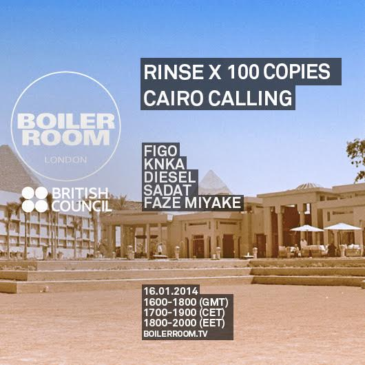 Rinse x 100 Copies: Cairo Calling Flyer Image