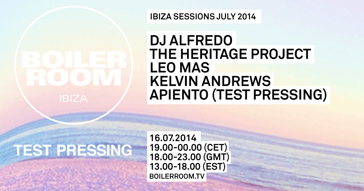 Ibiza Sessions: DJ Alfredo, The Heritage Project, Leo Mas, Apiento (Test Pressing), Kelvin Andrews Flyer Image