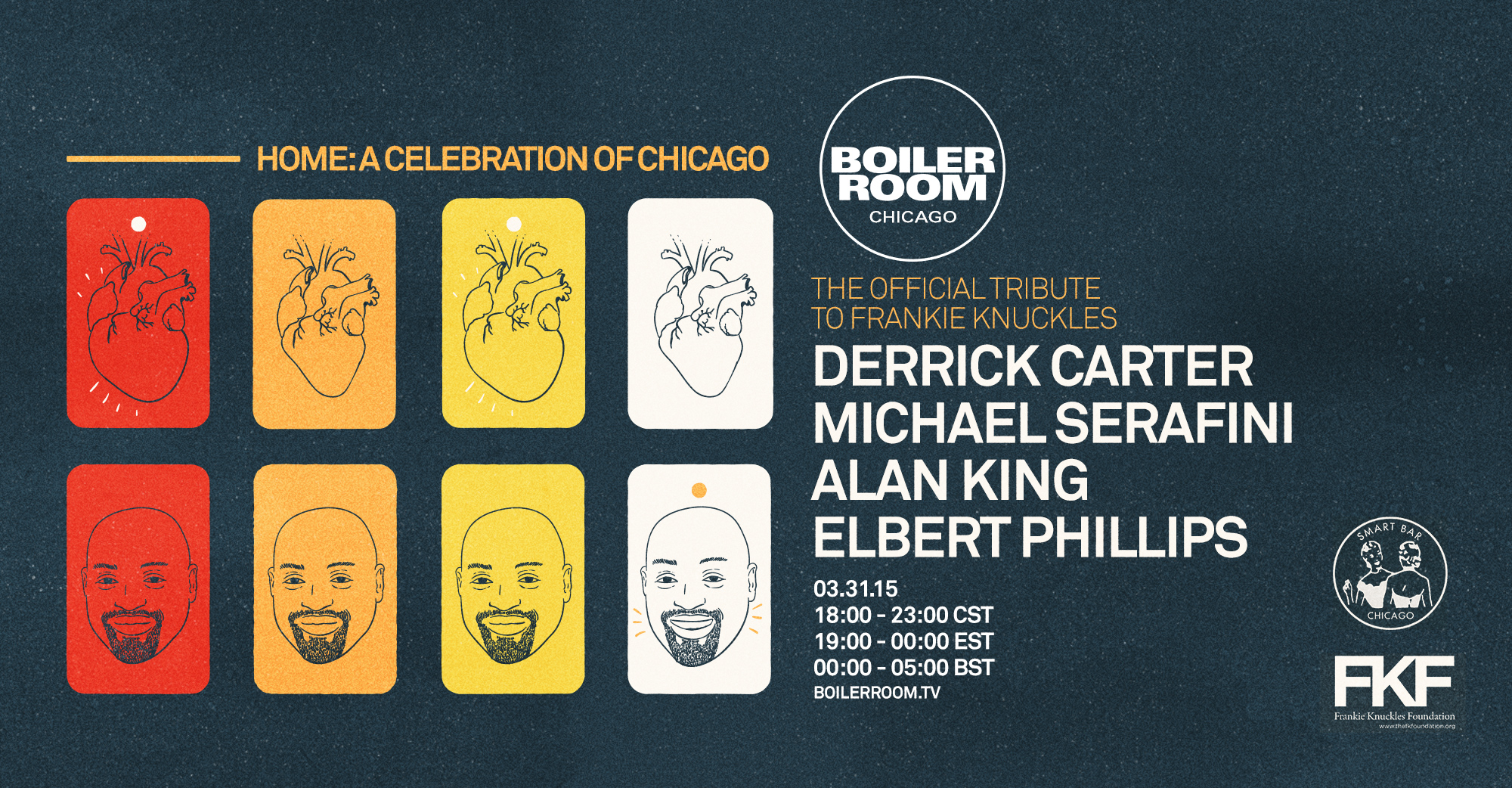 Home: A Celebration of Chicago, II – The Official Tribute to Frankie Knuckles Flyer Image