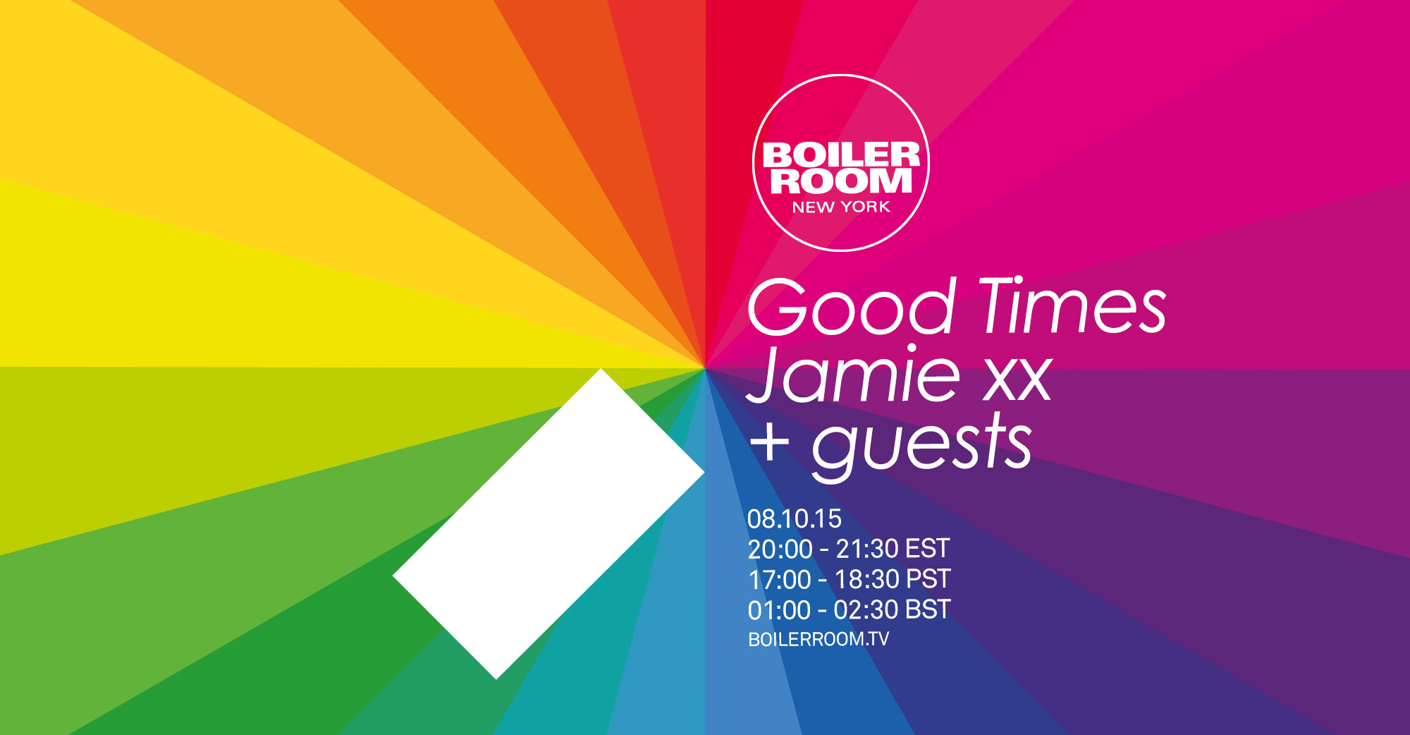 Good Times with Jamie xx Flyer Image