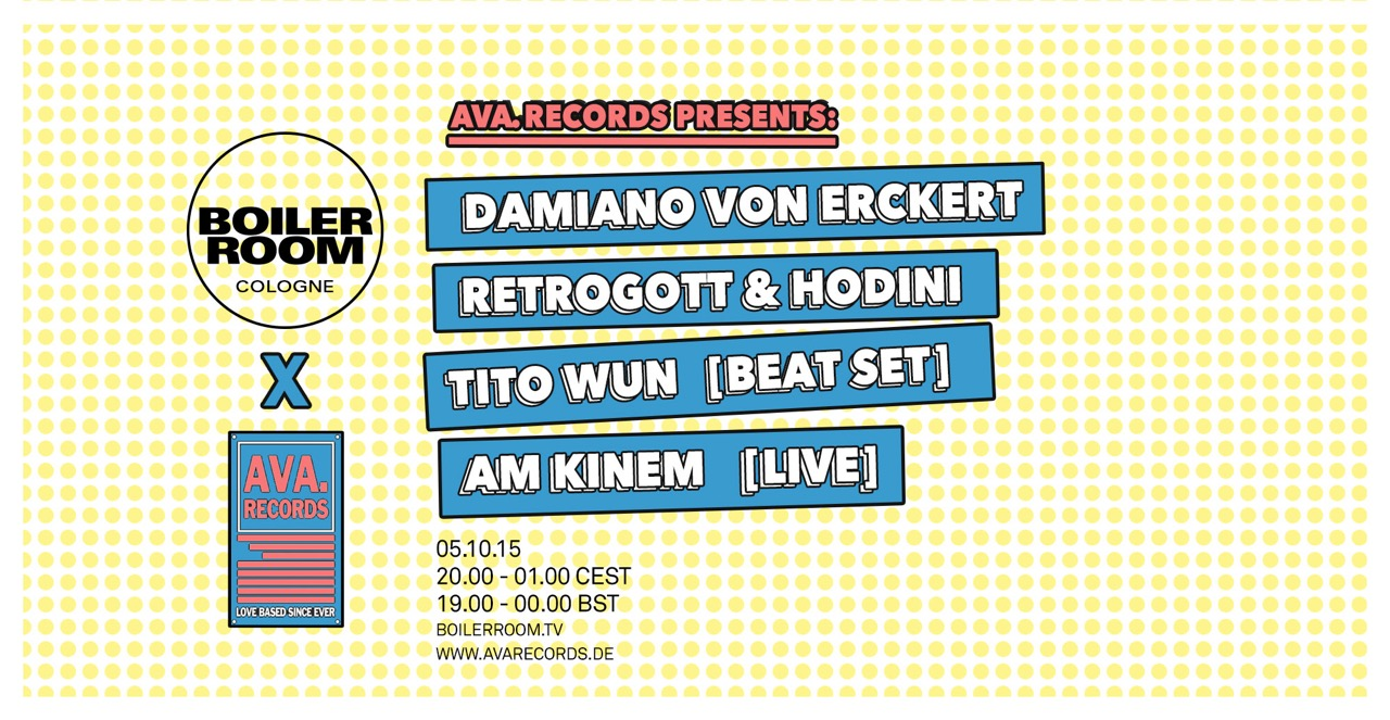 Boiler Room Cologne x Ava. Records Flyer Image