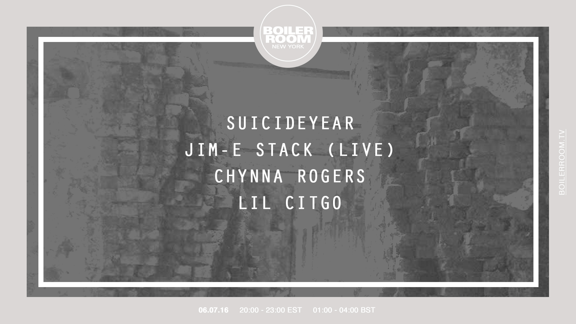 New York: Suicideyear, Jim-E Stack, Chynna Rogers & Lil Citgo Flyer Image