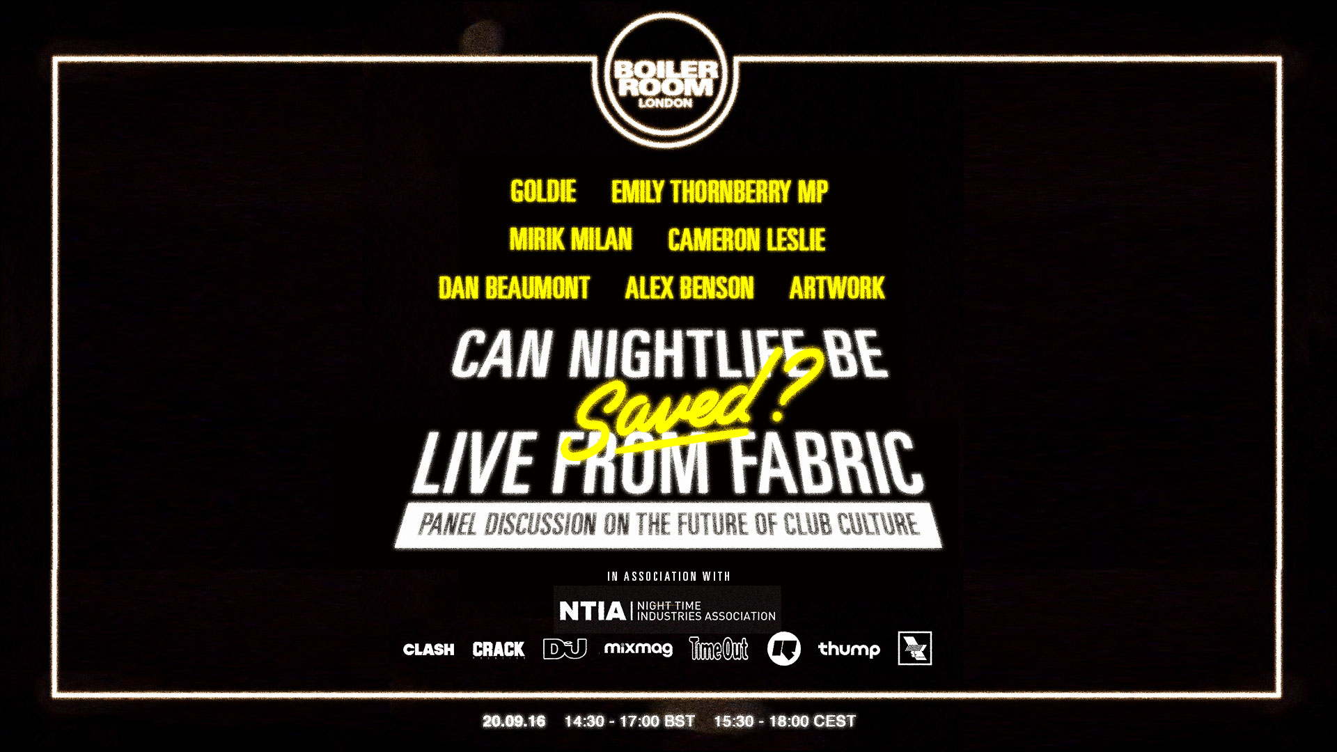 UK: Can Nightlife be Saved? Live from Fabric Flyer Image
