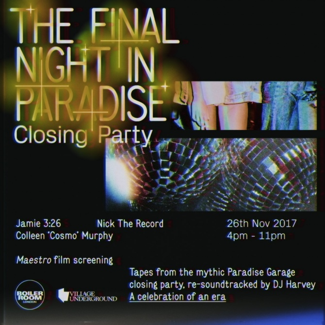 'The Final Night in Paradise' - Closing Party Flyer Image